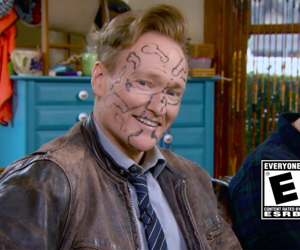 Conan O'Brien Gets Dicks on His Face for Losing Mario Kart