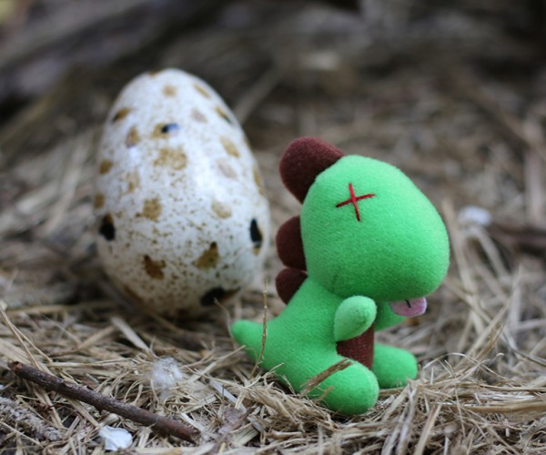 Dinosaur Plushies with Egg Case: Gotta Hatch 'Em All