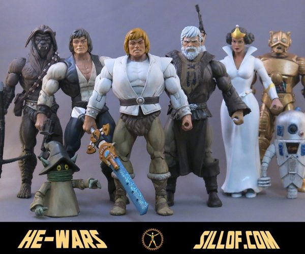 Star Wars x Masters of the Universe Custom Action Figures: He-Wars