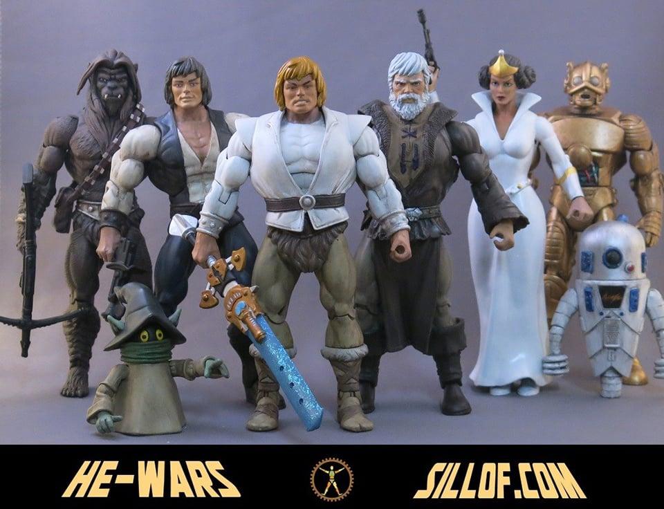 Star Wars x Masters of the Universe Custom Action Figures: He-Wars - Technabob