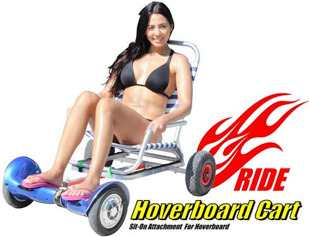 Hoverboard Sitting Attachment Creates A Hover Kart