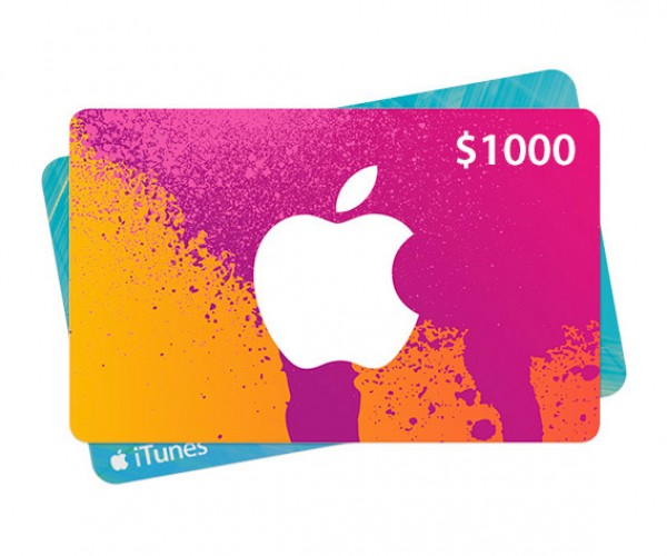 Enter Now: The $1000 iTunes Gift Card Giveaway