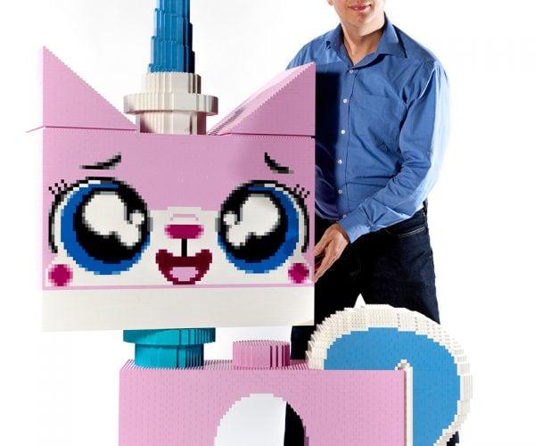 Life-size LEGO Unikitty: Half-Unicorn, Half-Cat, Full Scale