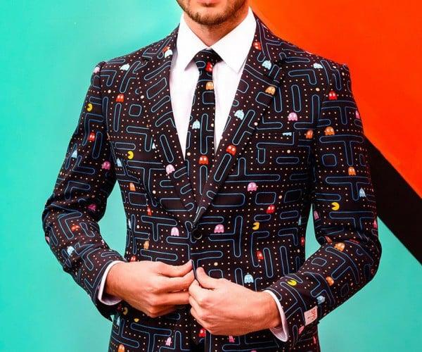 OppoSuits Pac-Man Suit & Tie: Pelletstripe
