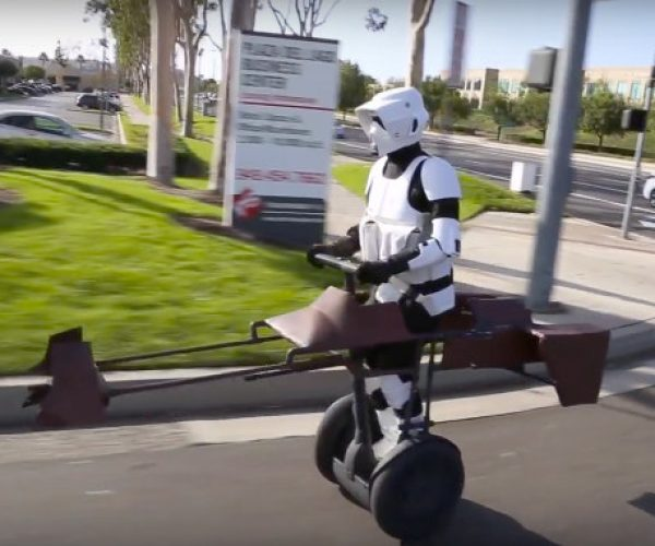 This Return of the Jedi Speeder Bike Started out as a Segway