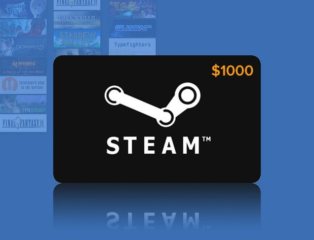 Giveaway: Win a $1000 Steam Gift Card