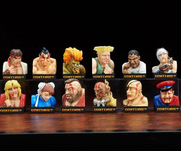 Street Fighter II Defeated Face Busts: Nine! Eight!..