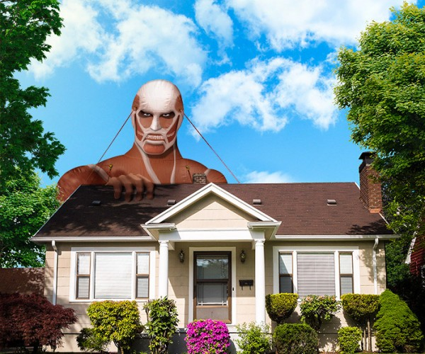 Attack on Titan Colossus Lawn Ornament Will Eat Your Neighbors