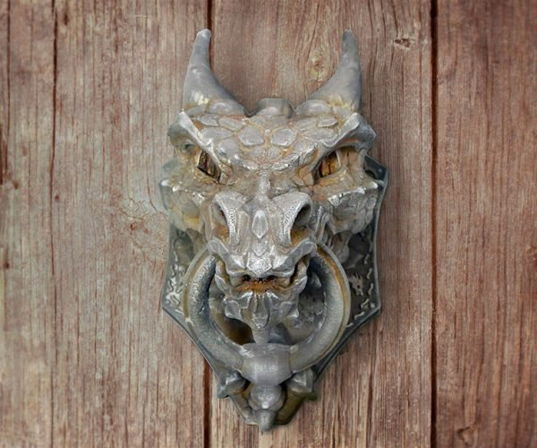 DIY 3D-Printed Dragon Door Knocker: None Shall Pass