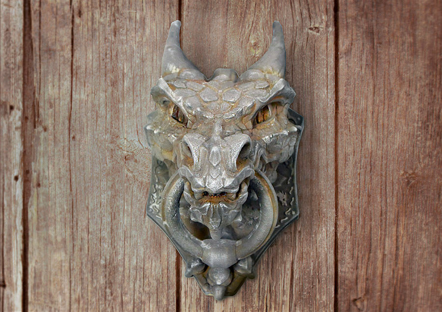 This 3D-printed dragon door knocker from designer Sonia Verdu looks menacing and awesome. Your guests will be very impressed. It can be painted to look just ... & DIY 3D-Printed Dragon Door Knocker: None Shall Pass - Technabob