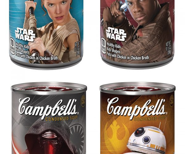 Campbell's Star Wars Soup Cans: The Sporks Awaken