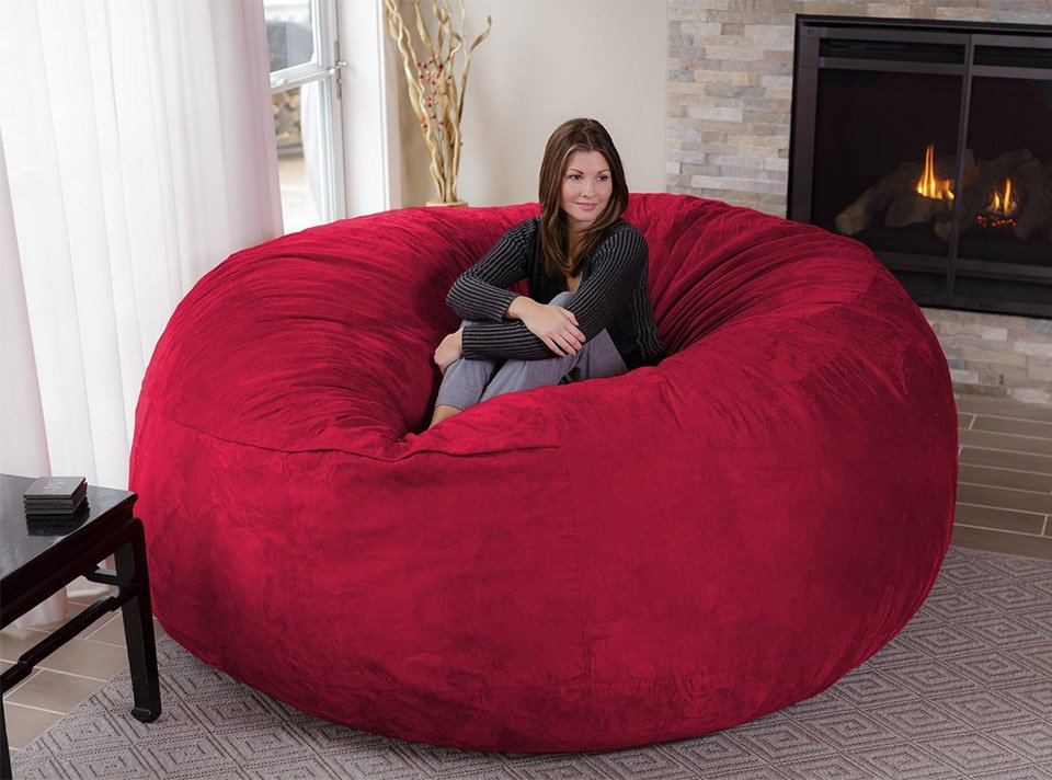 the chill bag is an eight foot bean bag chair technabob. Black Bedroom Furniture Sets. Home Design Ideas