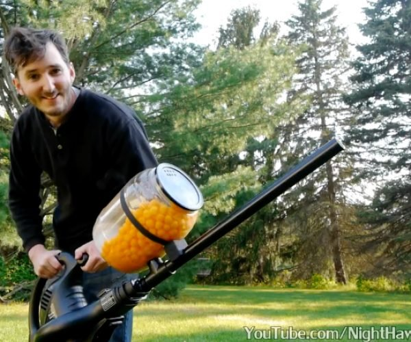 DIY Cheese Ball Machine Gun: I'll Give You a Snack You Won't Believe