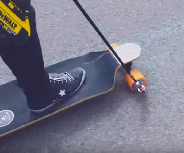 A Drill-powered Skateboard Is an Awesome Way to Travel