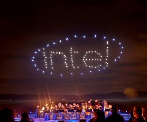 Intel Brings Its 100 Dancing Drones to Palm Springs, California