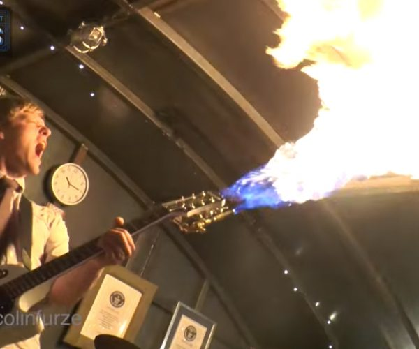 Colin Furze's Flamethrowing Guitar & Smoking Bass: Through the Fire & Vapes