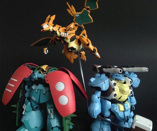 Fan Makes Awesome Gundam Pokémon Figures
