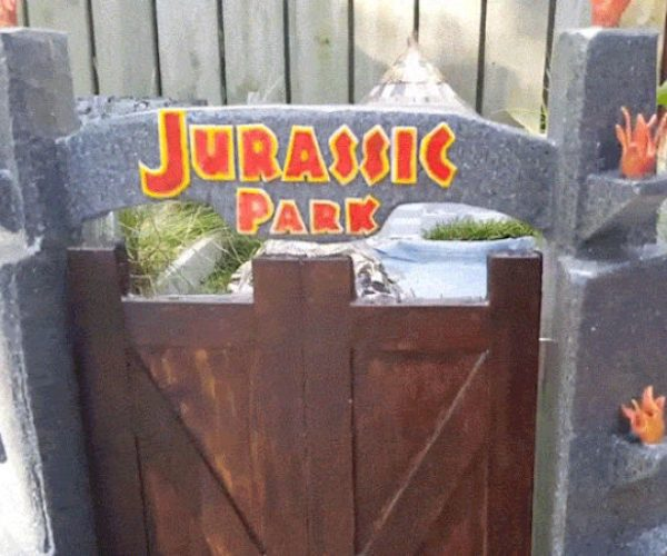 Guy Builds Mini Jurassic Park For His Tortoise: Turtlesaurus Rex