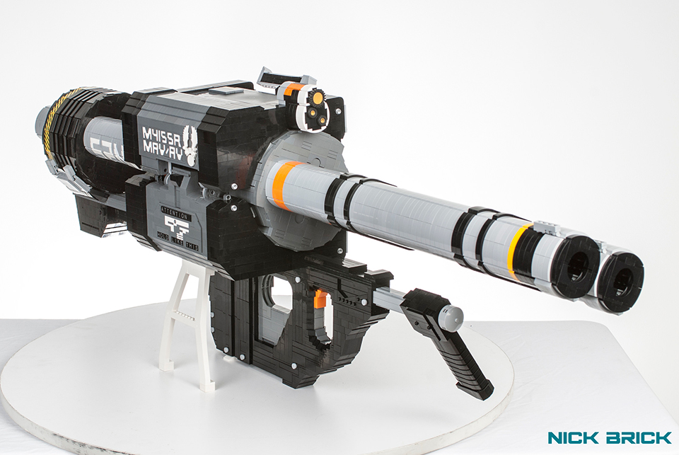 how to build a lego rocket launcher