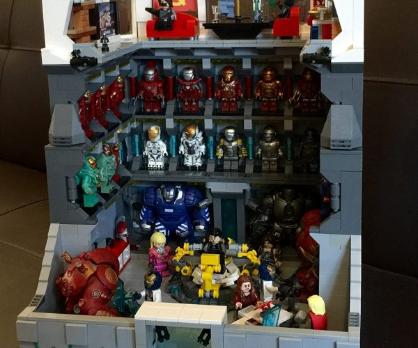 Custom LEGO Iron Man Lab: The Iron Bank