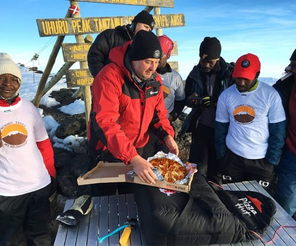 Pizza Hut Makes Delivery at 19,341 feet