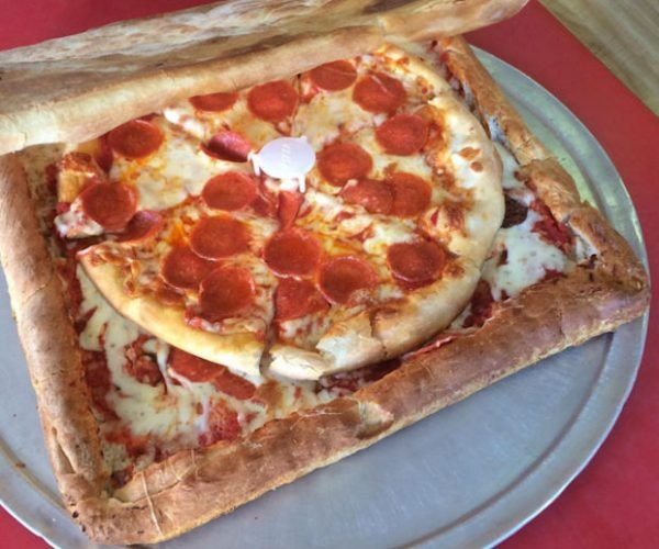 This Pizza Delivery Box Is Made out of Pizza: Pizza ^2