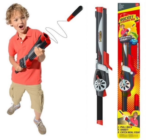 Rocket fishing rod the gun that catches fish technabob for Fishing pole for kids