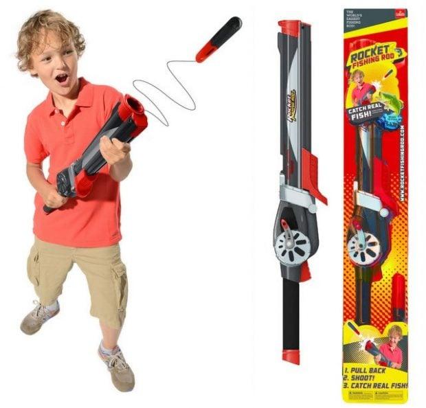 Rocket fishing rod the gun that catches fish technabob for Rocket fishing pole