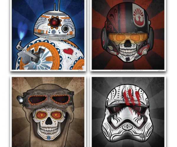 Star Wars Episode VII Day of the Dead Prints: The Force Unawakens