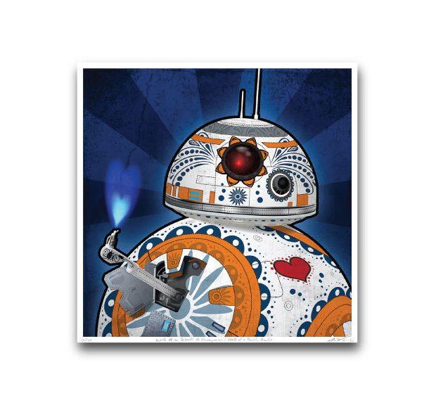star_wars_the_force_awakens_day_of_the_dead_prints_by_john_karpinsky_2