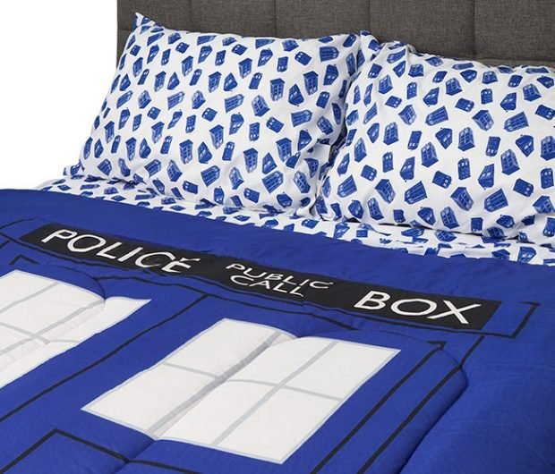 doctor who tardis bedding is comfier on the inside technabob
