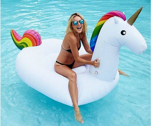 Inflatable Unicorn Pool Float for a Magical Day at the Pool