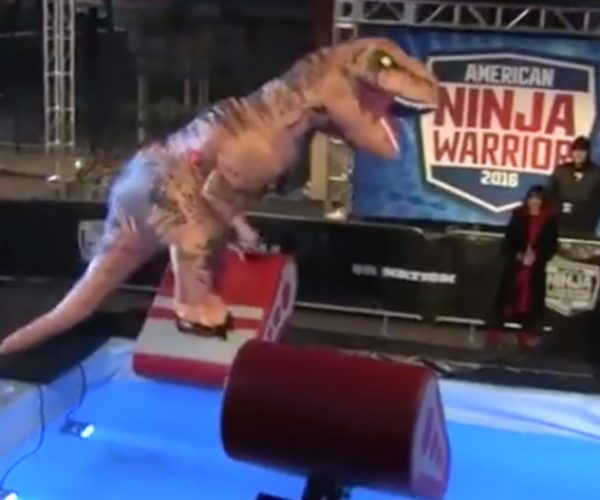 T.Rex Tackles American Ninja Warrior Obstacle Course
