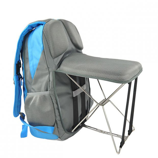 Backpack With Built In Stool