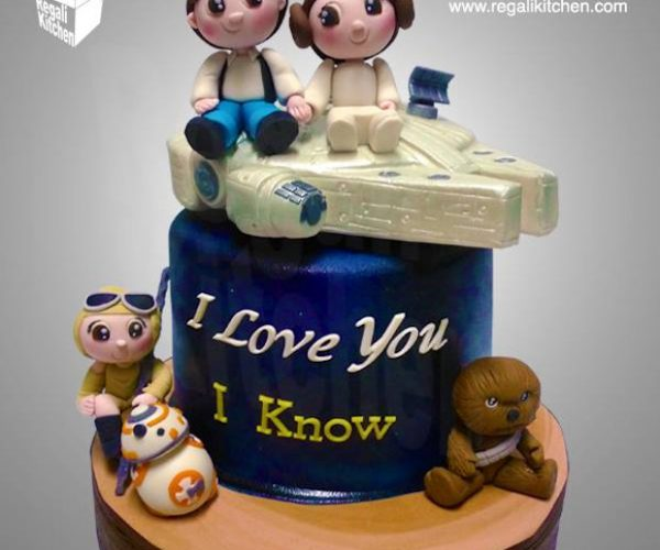 Chibi Star Wars Wedding Cake