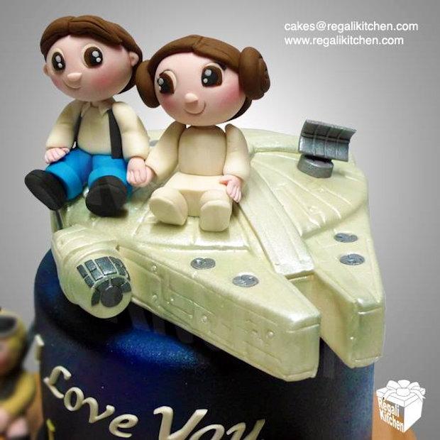 Chibi Star Wars Wedding Cake