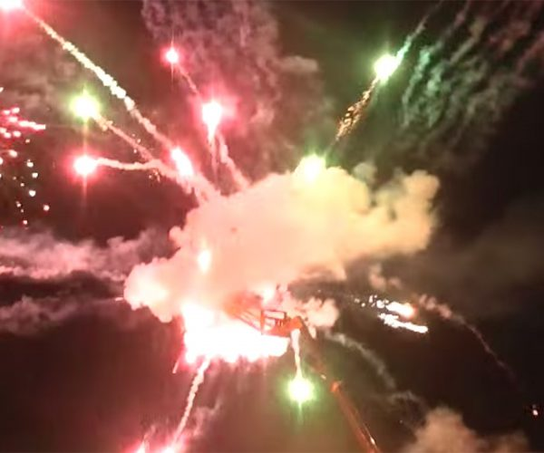 Colin Furze Builds a Death Star Using 5,000 Fireworks