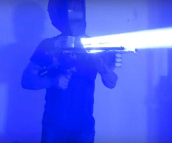 Guy Builds a 200-Watt Laser Bazooka