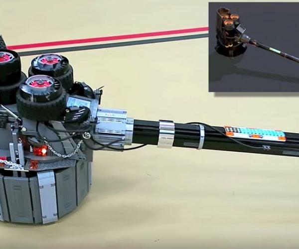 Reinhardt's Rocket Hammer Done Up in LEGO