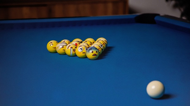 Emoji Billiard Balls PoolMoji Technabob Awesome Pool Ball Decorations