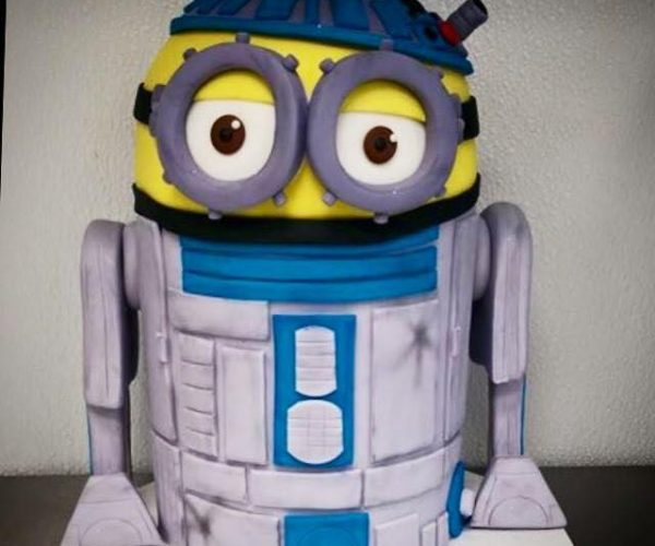 R2-D2 Minion Cake: Despicable Droid