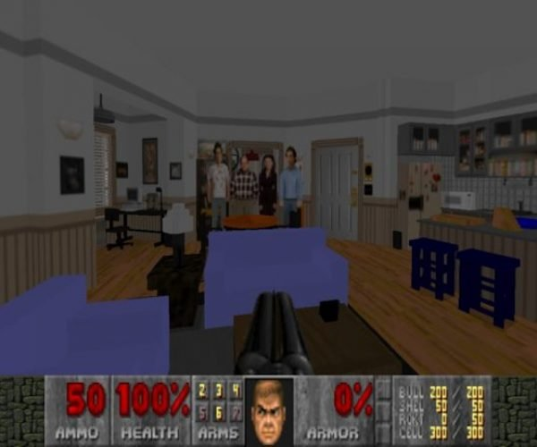 Jerry Seinfeld's Apartment Recreated in Doom 2
