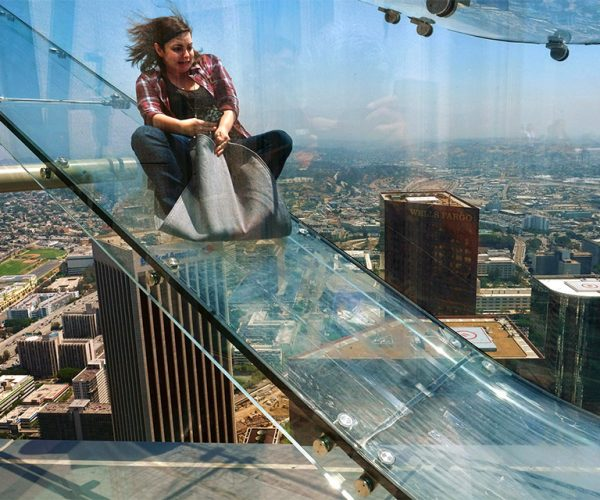This Glass Slide on an L.A. Skyscraper Is Terrifying
