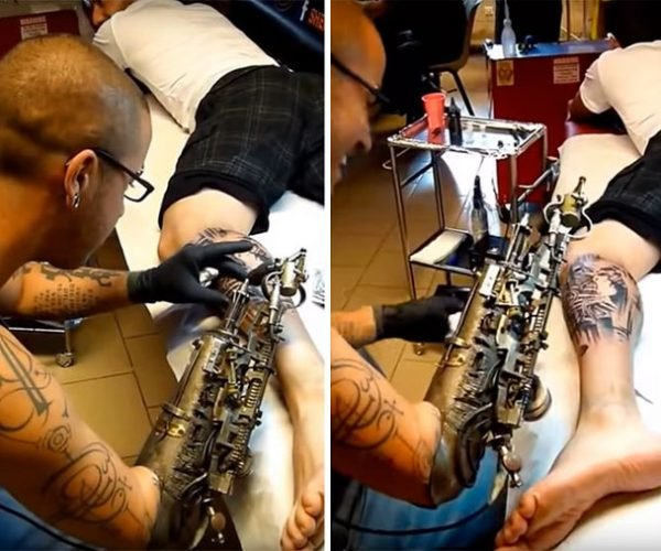 Man Gets Prosthetic Tattoo Gun Arm