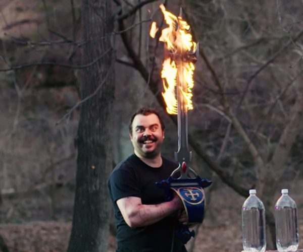 Voltron's Flaming Sword Forged in Real Life