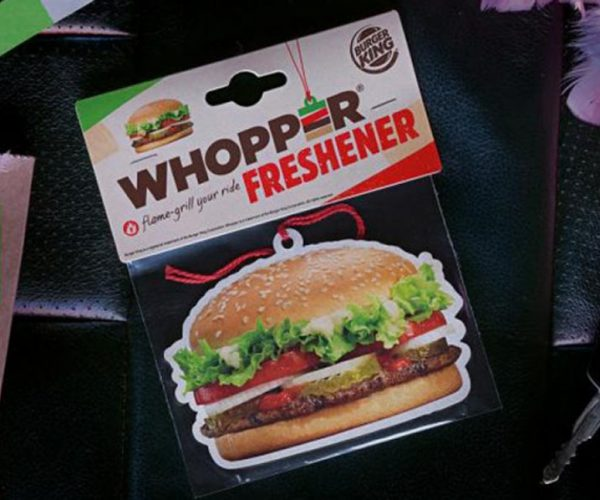 Burger King Whopper Air Freshener: For That Fresh, Flame-broiled Scent