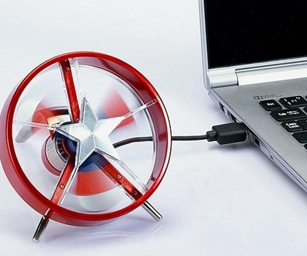 Captain America Shield USB Mini-Fan Won't Protect You from Bullets