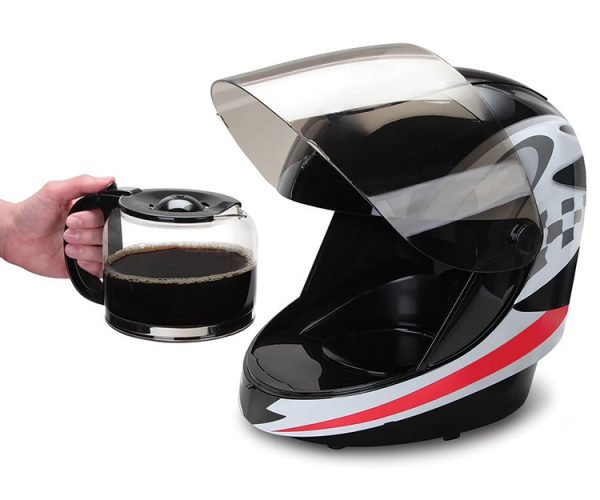 Racing Helmet Coffee Maker: Gentlemen, Start Your Grinders!