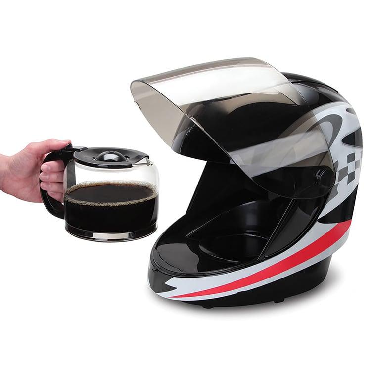 Racing Helmet Coffee Maker: Gentlemen, Start Your Grinders! - Technabob