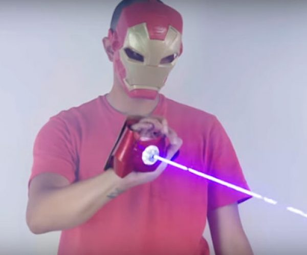Iron Man Glove Shoots a Laser